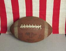 Vintage All Pro Brand Leather Official Size Football w/Laces 10 Great Display!