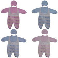 Baby Velour 3 Pieces Sleepsuit Set Popper Bib Hat Pyjama Bodysuit 0-12 Months