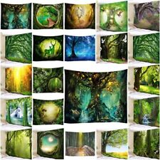 Forest Tree Tapestry Sunshine Scenery Wall Hanging Hippie Bedspread Home Decor