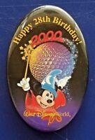 "Walt Disney World 2000 "" Happy 28th Birthday!"" Button Pin"