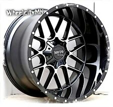 "24 x14"" gloss black machined Moto Metal MO986 Siege wheels Ford F250 F350 8x170"