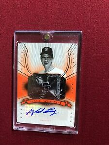 GAYLOR PERRY 2005 UPPER DECK HALL OF FAME HALL WORTHY AUTOGRAPH #/15 AUTO GIANTS