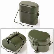 Soldier Military Lunch Box Canteen Kettle Pot Food Bowl German Camping Mess Kit