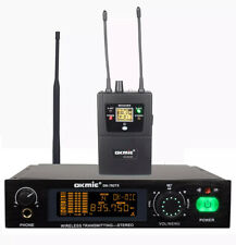 UHF Wireless In Ear Monitor System Stereo True Diversity For Stage Performance