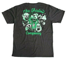 SHADOW CONSPIRACY SHADES s/s T SHIRT BMX SUBROSA VANS OBEY GREY NEW