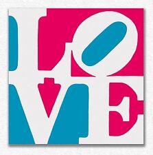 Robert Indiana      Chosen Love   90 x 90 cm  STAMPA  TELA QUADRI CANVAS