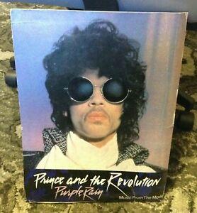 PRINCE REVOLUTION 1984 Purple Rain Record Store Counter Stand-up Display Promo