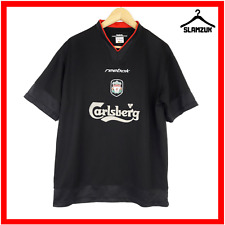 Liverpool Football Shirt Reebok M Medium Training Kit Soccer Jersey Black 2002