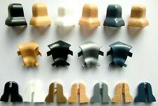 PROFI Boden-Zubehör Innen-Außen-Ecken Endkappen für Sockel-Fuß-Leisten 20x45 mm