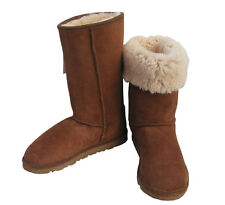 Australia Sheepskin Classic Tall Ugg Boots Chestnut Brown Wool Mens Ladies Boot