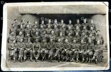 1944 Ghent - Royal Engineers 65 Field Coy - HQ group named -Real photo postcard
