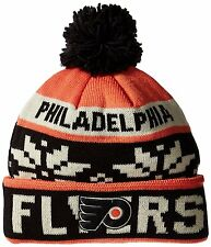 Philadelphia Flyers Pom Knit Cap Beanie~Reebok NHL Face-Off~OSFM~Ships FREE
