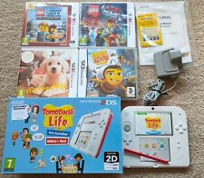 🌟 IMMACULATE Nintendo 2DS Console Red Boxed Bundle 5 Games