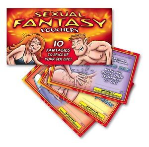 Adult Novelty Booklet Vouchers Hot Naughty Bedroom Fun Sex Cheques Coupons GIFT