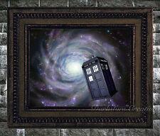 Dr. Who Tardis Fantasy - Luster Finish Original Art Print - Dark, Sci-Fi Realism
