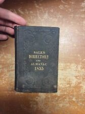 Salem Directory And Almanac 1855 Salem, Massachusetts - Lacking Map