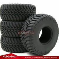 4Stk RC 1.9 Crawler Reifen Tires 114mm für RC 4WD Axial 1.9 Beadlock Felgen Rims