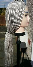 Hand Made Box Braids Wig. 43 Inches  Color: 60  Silver/White