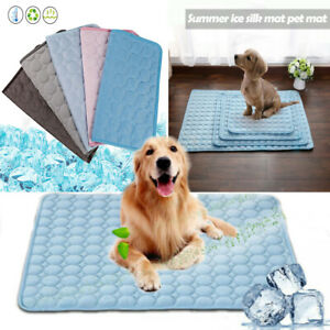 Pet Summer Cooling Mat Cold Gel Pad Comfortable Cushion for Dog Cat Puppy XS-2XL