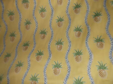 P. KAUFMANN CLOTH/FABRIC/MATERIAL SERENDIPITY PINEAPPLES ON YELLOW TROPICAL 10YD