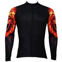 Flame Lion Men's Cycling Long Sleeve Jerseys Winter Cycling Clothing Bike Jacket