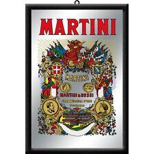 Martini & Rossi Label Logo Nostalgie Barspiegel Spiegel Bar Mirror 22 x 32 cm