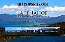"TrainJunkies O Scale ""LAKE TAHOE"" Model Railroad Backdrop  144""x18"""
