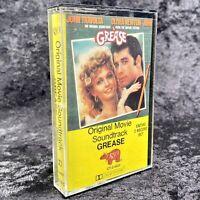 Grease Original Movie Soundtrack Cassette RSO Records 1978 CT-2-4002
