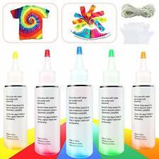 Tie Dye Kit - 5 colours, One Step Tie-Dye Art Kit, Fabric Textile Multi-Color