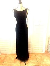 RONNI NICOLE by Ouida Black Long Evening Grown Size 6