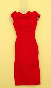 Vintage Barbie PAK Silk Sheath Red Dress