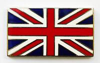 Enamel & Chrome Self Adhesive Classic Car, GB Union Jack Flag Badge
