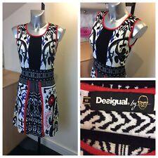Desigual Stretch Knit Fit &Flare Dress. Size 10UK.