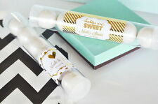 96 Metallic Foil Personalized Candy Tubes Baby Shower Favors