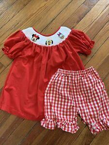 Smocked Disney Minnie Daisy Dress Outfit 3T
