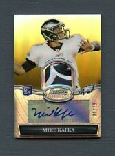 2010 Mike Kafka Bowman Sterling Gold Refractor 4-Color Jersey Patch Auto 01/25