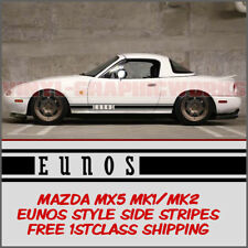 Mazda MX5 Mk1 Mk2 Eunos Roadster Side Stripes Decal Vinyl Graphic Eunos Style