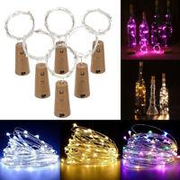 2M Wine Bottle Cork Shaped 20 LED Copper Wire String Light Bulb For Xmas Decor