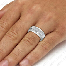 14k White Gold Finish Round Cut Diamond 1.20 Carat Men's Pinky Engagement Ring