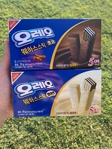 2x OREO WAFER 75G BOXES CHOCOLATE AND WHITE CHOCOLATE FLAVOR!! SHIPS FROM U.S.!!