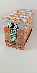 TANG SINGLES TO GO ZERO SUGAR Drink Mix Orange Tang - LOT OF 6 - Gluten Free