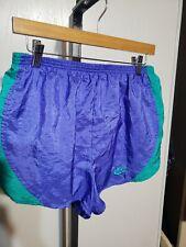 Vintage nike Nylon Shiny Multi colors Sprints Shorts Size Large