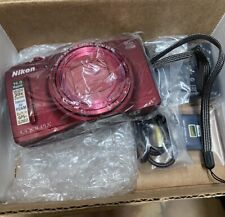 Nikon Coolpix S9700 Red. 16 MP Digital Camera.  30X Wide Optical Zoom,UltraThin