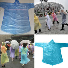 10x Adult Emergency Waterproof  Disposable Rain Coat Poncho Hiking Camping RS