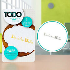 Todo Letterpress Hot Foil Plates-Deck the halls/Christmas blessings/Jingle NEW