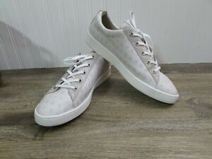 DKNY Woman's Sneakers: Beige Court Style Sneakers - Size US 10M