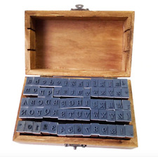 70 Alphabet letters numbers rubber stamps upper lower case serif boxed craft DIY