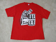 Rogue Status DTA Shirt Adult 2XL XXL Red Black Don't Trust Anyone Rob Dyrdek Men