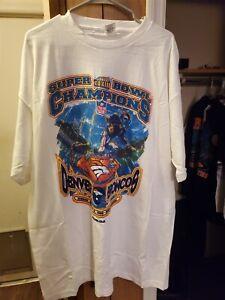 VTG 1999 Starter Denver Broncos Super Bowl Locker Room T Shirt XL NWOT
