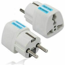 Portable UK US AU to EU European Power Socket Plug Adapter Travel Converter YK